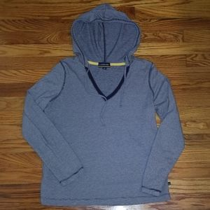 Lands' End long sleeve hooded tee